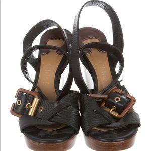 Chloe wedge shoes